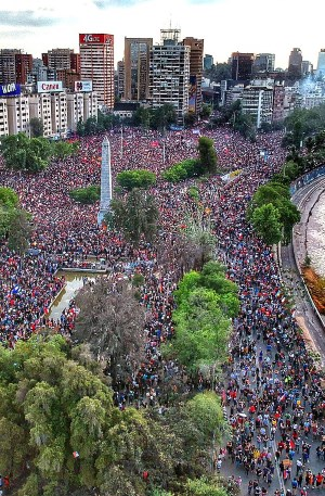 Protests in Chile, Plaza Baquedano
